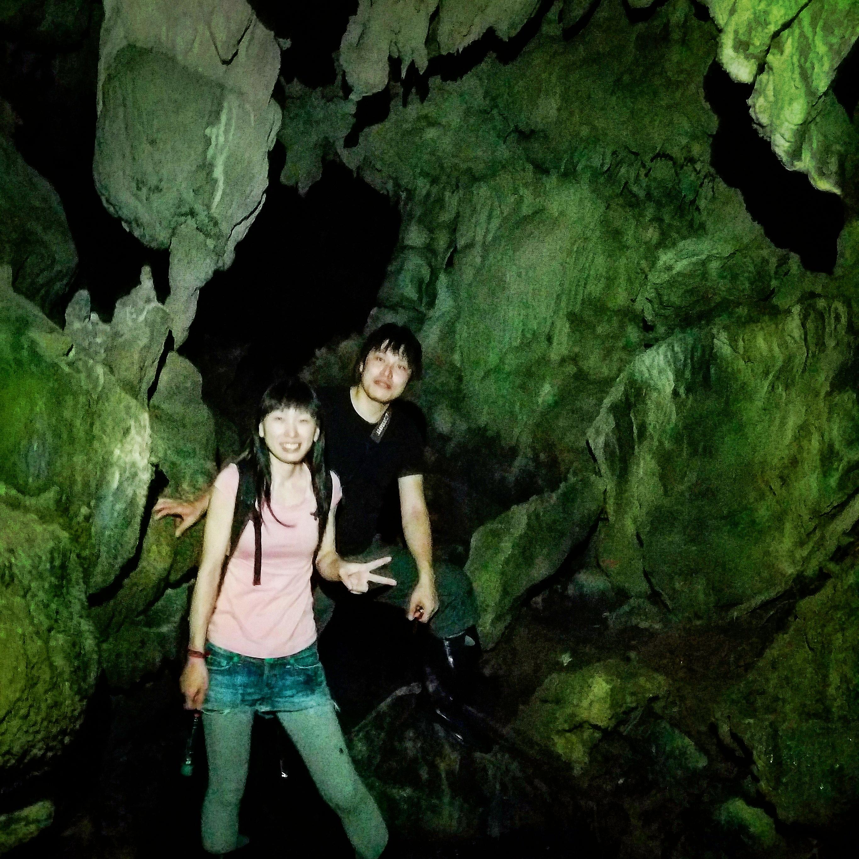 夜の西表島ジャングル 鍾乳洞コース